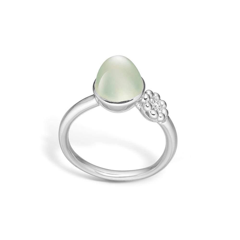 Image of   Blossom Sølv Ring med Prehnite 21632014-17