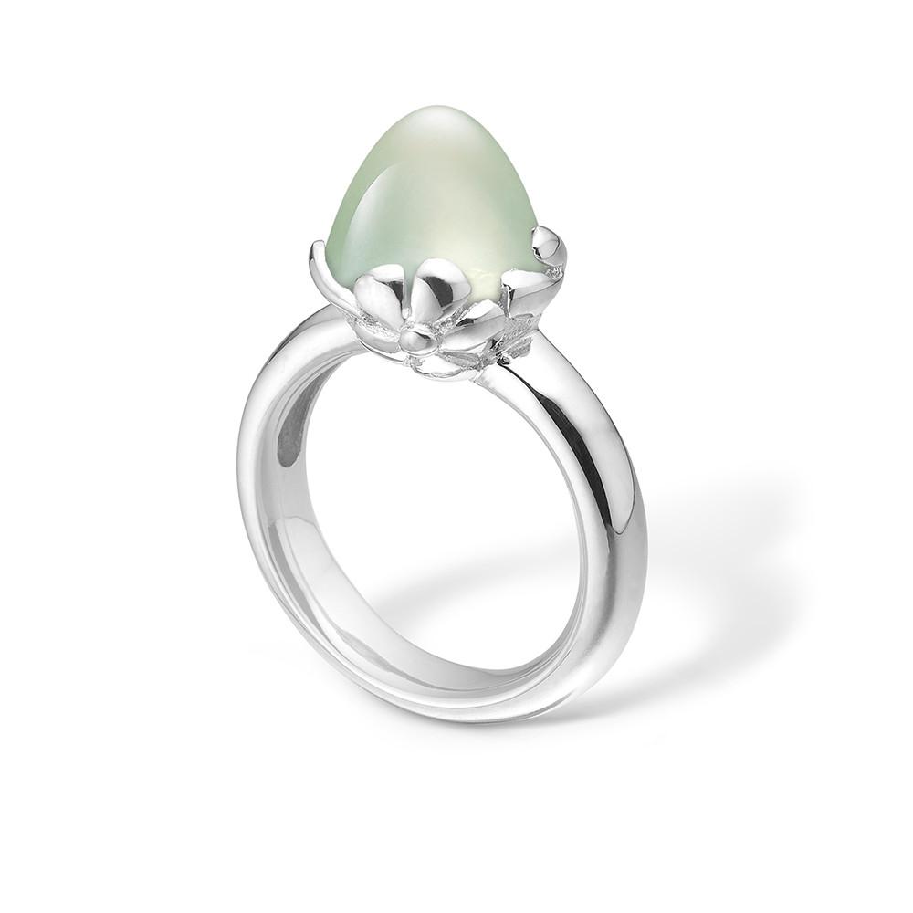 Image of   Blossom Sølv Ring med Prehnit 21632010-17