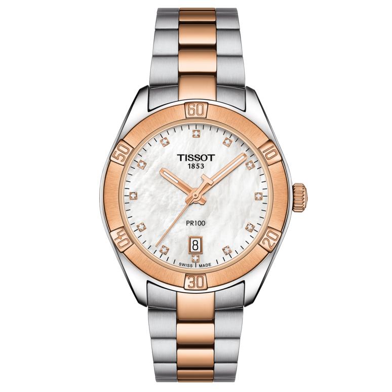Image of   Tissot Dameur PR100 Sport Chic Dame Diamant T1019102211600