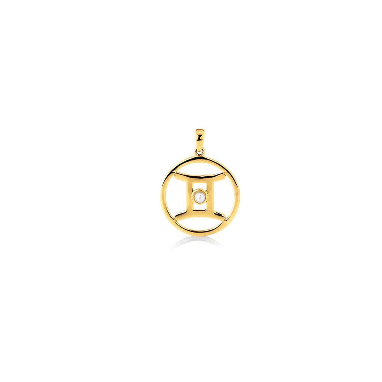 Stjernetegn Tvilling 8 Karat Guld Vedhæng fra Aagaard