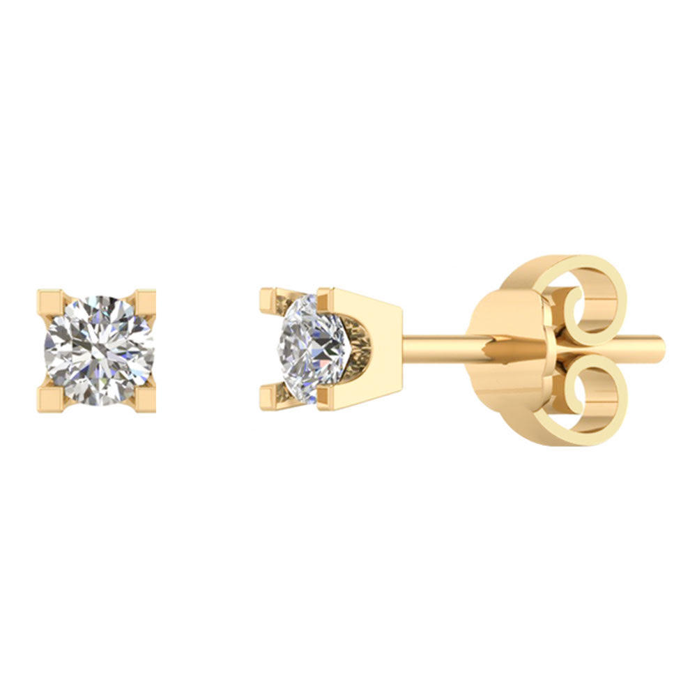 Smykkekæden 14 Karat Guld Ørestikker med Diamanter 0,30 Carat TW/SI