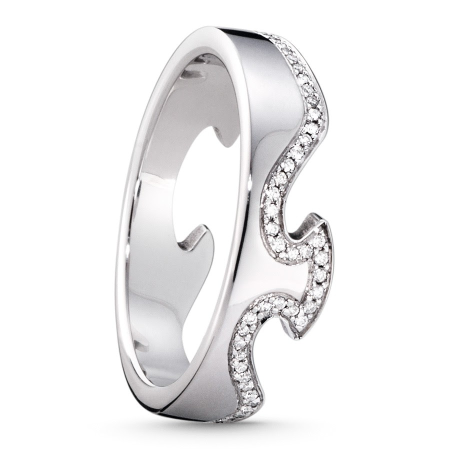 Georg Jensen Fusion ende ring str.50