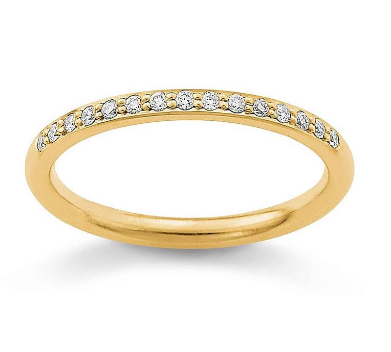 Image of   Aagaard 14 Karat Guld Ring med Brillanter