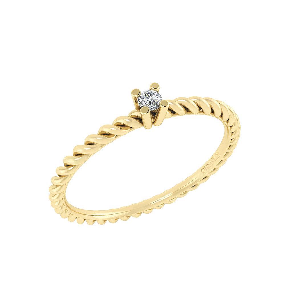 Image of   14 Karat Guld Ring fra Smykkekæden med Diamant DMN0345YG