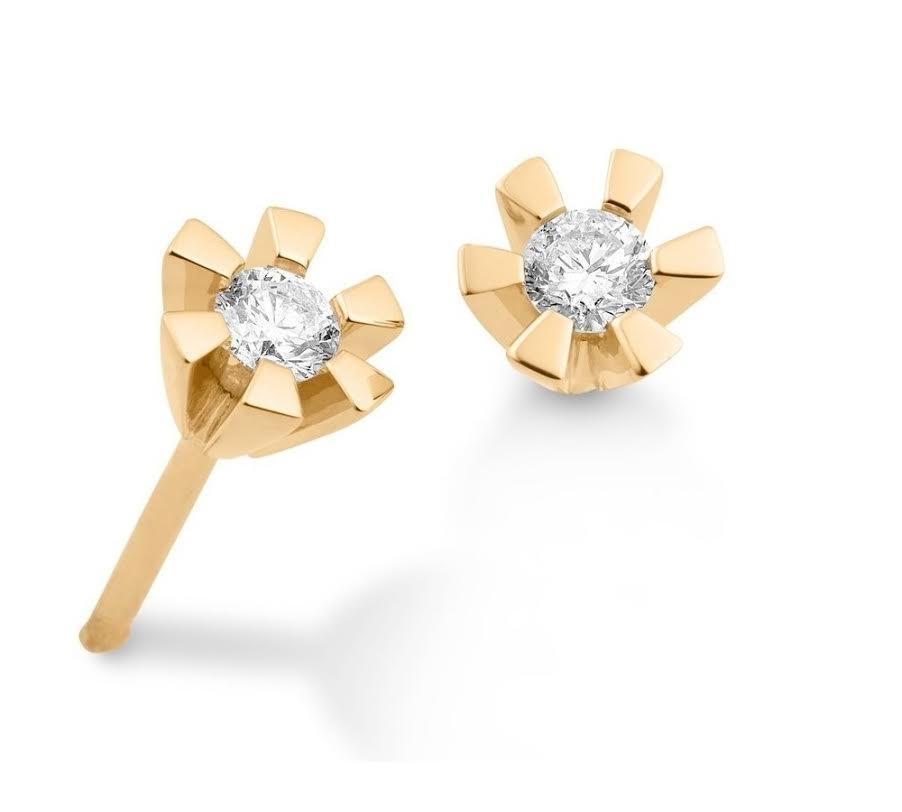 Eternity 14 Karat Guld Ørestikker fra Aagaard med Diamanter 0,25 Carat