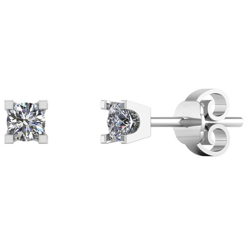 Image of   14 Karat Hvidguld Øreringe fra Smykkekæden med Diamanter 0,40 Carat TW/SI