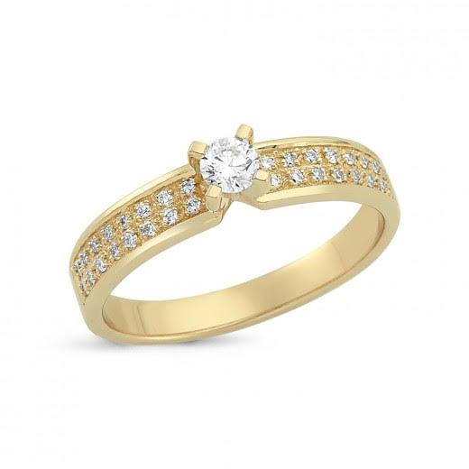 Nuran Vielses 14 Karat Guld Ring med Brillanter 0,31 Carat W/SI